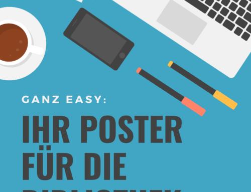 So entwerfen Sie ohne Stress schöne Poster für Ihre Bibliothek